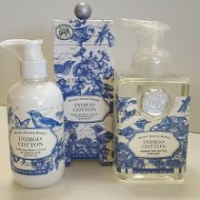 Indigo Cotton Soap and Hand Lotion Pack